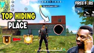 Top New Hiding Place In Free Fire in Bermuda Map [Peak] ✔️ // Techno BanDa