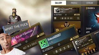 World top 10 high Level players of free fire word ||free fire hi level 100