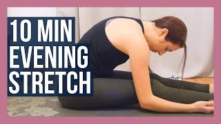 10 min Evening Full Body Yoga Stretch - Bedtime Yoga for Beginners