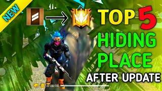 TOP 5 NEW HIDING PLACE IN FREE FIRE || FREE FIRE HIDDEN PLACES AFTER UPDATE