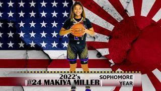 2022 Top 10 Point Guard - #24 Makiya Miller's Sophomore Highlights
