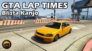 Fastest Compacts (Blista Kanjo) - GTA 5 Best Fully Upgraded Cars Lap Time Countdown