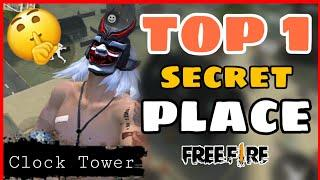 Free Fire || Top 1 Secret Place in Clock Tower Free Fire || Hidden Place Free Fire -4G Gamers