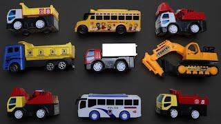 Colorful Street Vehicles for Kids - Lots of Street Vehicles With Learn Name & Numbers and Colors