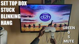 VIDEOCON D2H SET TOP BOX , STB BLINKING PROBLEM, HANG,STUCK, PROBLEM SOLVED,
