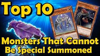 Top 10 Monsters That CANNOT Be Special Summoned in YuGiOh