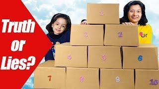 Truth or Lies Challenge | Box of Lies | #SchoolLife #Fun #Kids #CuteSisters | Cute Sisters
