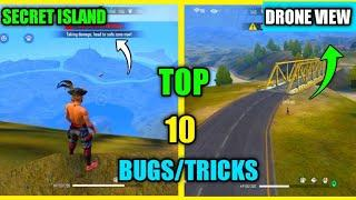 Top 10 New Latest Bugs/Glitches And Tricks In Free Fire | Secret Island In Purgatory Map Free Fire