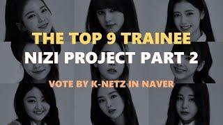 NIZI PROJECT PART 2   THE TOP 9 VOTE BY K-NETIZENS
