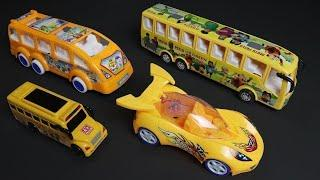 Learn Yellow Color Toy Street Vehicles Name & Number with Colors Name for Children by Super Toys