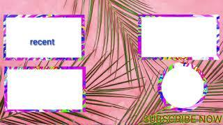 Top 5 Outro Template Free Download || No Copyright End Screen Outro Template Download