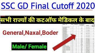 SSC GD Final Cutoff 2019 || SSC GD Cutoff 2020 ||ssc final result, ssc news today,ssc gd cutoff 2020