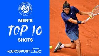 Top 10 Men's Shots   2021 Roland Garros   Tennis   Eurosport