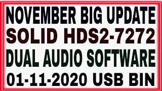 Solid 7272 Latest Software 2020,HDS2-72752 New Software,Dual Audio,T2MI,Youtube Software,Solid 7272