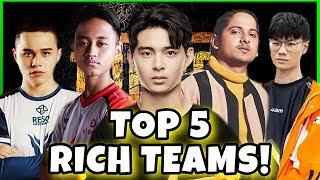 TOP 5 RICHEST TEAMS OF PUBG MOBILE IN 2019