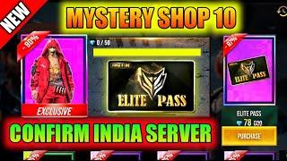 MYSTERY SHOP 10 CONFIRM || ELITE PASS DISCOUNT FREE FIRE || PRG GAMERS