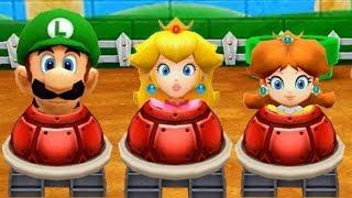 Mario Party The Top 100 -  MiniGames - Mario Vs Peach Vs Daisy Vs Luigi (Master Difficulty)