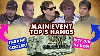 2013 WSOP Main Event - Top 5 Hands   World Series of Poker