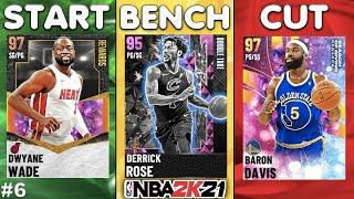START, BENCH, CUT MyTEAM EDITION #6! WHO ARE THE TOP CARDS IN THE GAME? NBA 2K21 MyTEAM