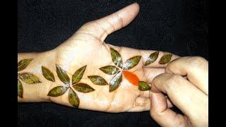 New Easy Trick Mehndi Design With Volini Spray | Simple Mehndi Design For Hand | Mehndi Designs