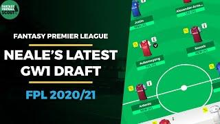 Latest FPL GW1 draft from a 3 TIME TOP 5k FINISHER | Fantasy Premier League Tips 2020/21