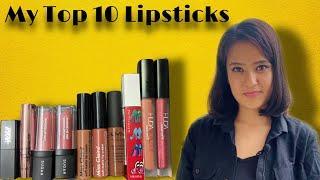 My Top 10 Lipstick collection 2020   The girl next door