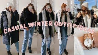 CASUAL WINTER OUTFIT IDEAS | LAYERING FOR COLD WEATHER FT. DANIEL WELLINGTON
