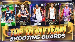 THE TOP 10 BEST SHOOTING GUARDS IN NBA2K20 MYTEAM!! NBA 2K20 BEST SHOOTING GUARDS!!