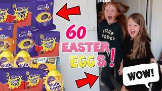 SURPRISING THE GIRLS! I WENT TO THE SHOP & BOUGHT 60 EASTER EGGS!