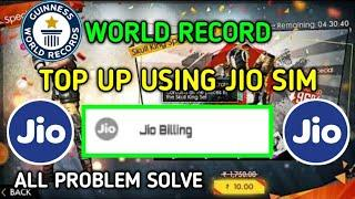 #World_record / free fire top up using jio sim / all problem solve explained / in | Tamil |