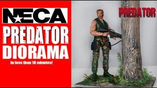 Tutorial: NECA Toys PREDATOR Jungle Diorama. 10 Minute Craft! (Made With only Dollar Store Items!)