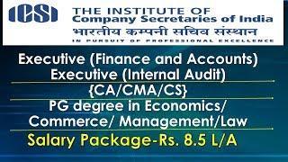 Job#12 I ICSI Job Opportunity For CA CMA CS I Finance Accounts Executive I PG In commerce/Accounts