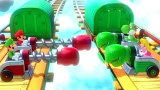 Super Mario Party Minigames - Mario vs Luigi vs Yoshi vs Peach (Master CPU)
