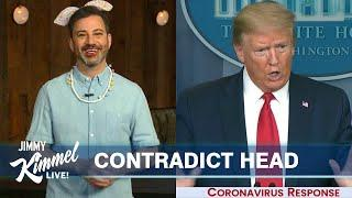 Jimmy Kimmel's Quarantine Monologue – Jimmy's Daughter Does His Makeup & Trump Contradicts Experts