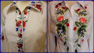 very attractive and Stylish hand embroidered tunic top and blouse designs