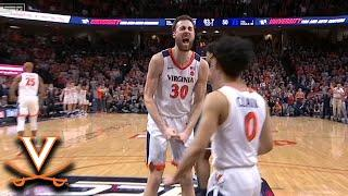 Virginia's Jay Huff With The Late Block To Help Seal The Win