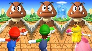 Mario Party 9 MiniGames - Mario Vs Luigi Vs Yoshi Vs Waluigi (Master Difficulty)