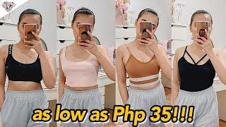BEST & AFFORDABLE LAZADA HAUL |TRY ON HAUL AS LOW AS PHP 35! Fashion, Skincare, Home Decor, Bralette