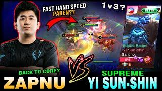Lancelot Fast Hand Speed Gameplay by ZAPNU vs. Top Supreme Yi Sun-Shin in Rank ~ Mobile Legends