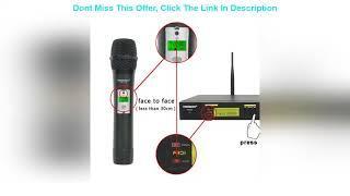 Top 10 Freeboss FB-U12 UHF Wireless Microphone System Dual Channel IR 2x100 Frequency Wireless Micr
