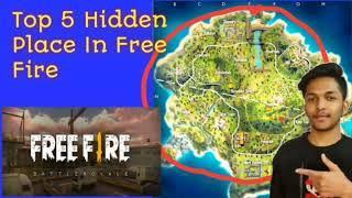 PEAK HIDDEN PLACE IN FREE FIRE ! TOP 10 HIDE PLACE IN BERMUDA MAP ! RANK PUSH TIPS !