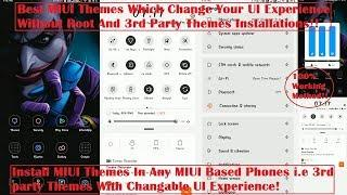Top MIUI 10/11 Themes For MIUI Users Full UI Change |Learn To Install 3rd Party Themes |[HINDI]|2019