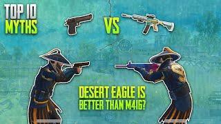 Desert Eagle Is Better Than M416? • Top 10 Myths • Pubg Myths #6