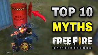 Top 10 Mythbusters in GARENA FREE FIRE - Interesting Facts