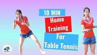 10 MIN HOME Tennis Tennis + HIIT Training Workout // No equipment
