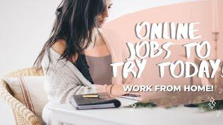 ONLINE JOBS YOU CAN START TODAY! WORK FROM HOME DURING QUARANTINE COVID-19