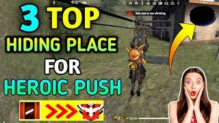 3 Top Place For Rank (Heroic) Push - Free Fire | free fire hide place