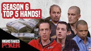 High Stakes Poker Best Poker Hands | Season 6