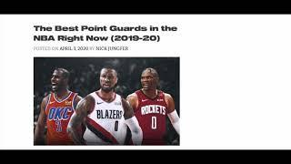 TOP 10 NBA POINT GUARDS FOR THE 2019-2020 NBA SEASON
