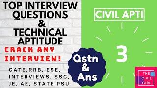 Top Civil Engineering Interview questions l Very Important Technical aptitude | LNT l TATA l fresher